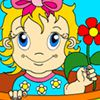 Play Lovely Flower Baby Coloring