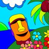 Play Tropical Island Paradise Coloring