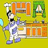Play Chef and  kitchen coloring