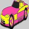 Play Fabulous pink car coloring