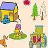 Play Duck in the farm coloring