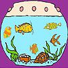 Play Amazing aquarium coloring