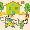 Play Bob on the farm coloring