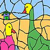 Play Talkative ducks coloring