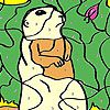 Play Funky mole coloring