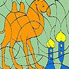 Play Alone Camel in the desert coloring