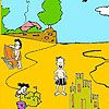 Sand castles on the beach coloring