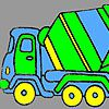 Play Fast concrete truck coloring