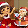 Dora with Santa Dressup