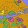Play Fishing cat in the woods coloring