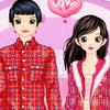 Valentine doll boy and girl