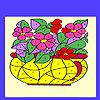 Flowers in the vase coloring