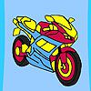 Play Fast racer motorbike coloring
