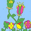 Play Flowers in the farm coloring