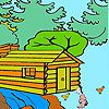 Farmer in the woods coloring