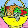 Play Fruit basket in the kitchen coloring
