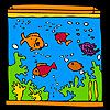 Play Big aquarium and colorful fishes coloring