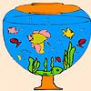 Play Little aquarium fishes coloring