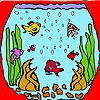 Play Mini aquarium fishes coloring