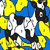 Black spotted cow coloring