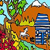 Play Farm boy at the cottage coloring