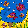 Play Little aquarium coloring
