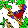 Play Fly and bird on the tree coloring