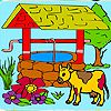 Play Farm and cow coloring