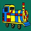 Country fast locomotive coloring