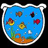 Play Fishes in the big aquarium coloring