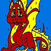 Play Red little dragon coloring