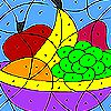 Colorful fruits coloring